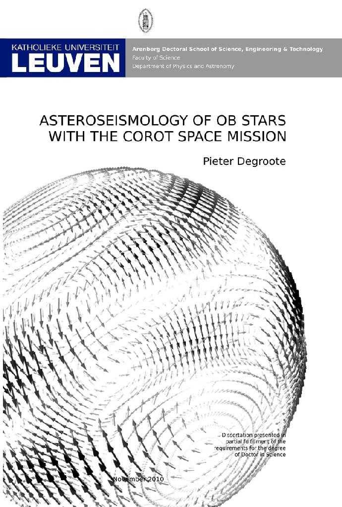 PhD Thesis Pieter Degroote – Institute of Astronomy